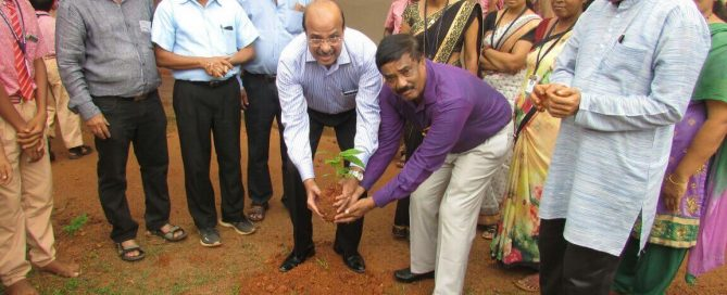 Tree plantationtree saplings distribution programme at Navachethana School Neermarga